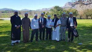 Eid Day - the delegation had lunch at the beautiful Roggeland Guest House in Paarl.