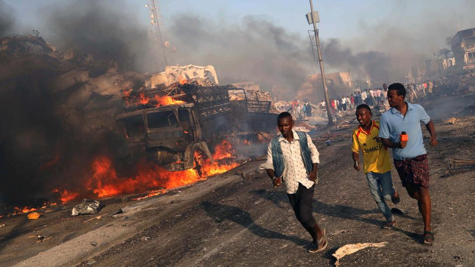 The Mogadishu bombing this weekend is one of the deadliest attacks in sub-Saharan Africa, larger than the Garissa University attack in Kenya in 2015 and the U.S. Embassy bombings in Kenya and Tanzania in 1998. Picture: Reuters