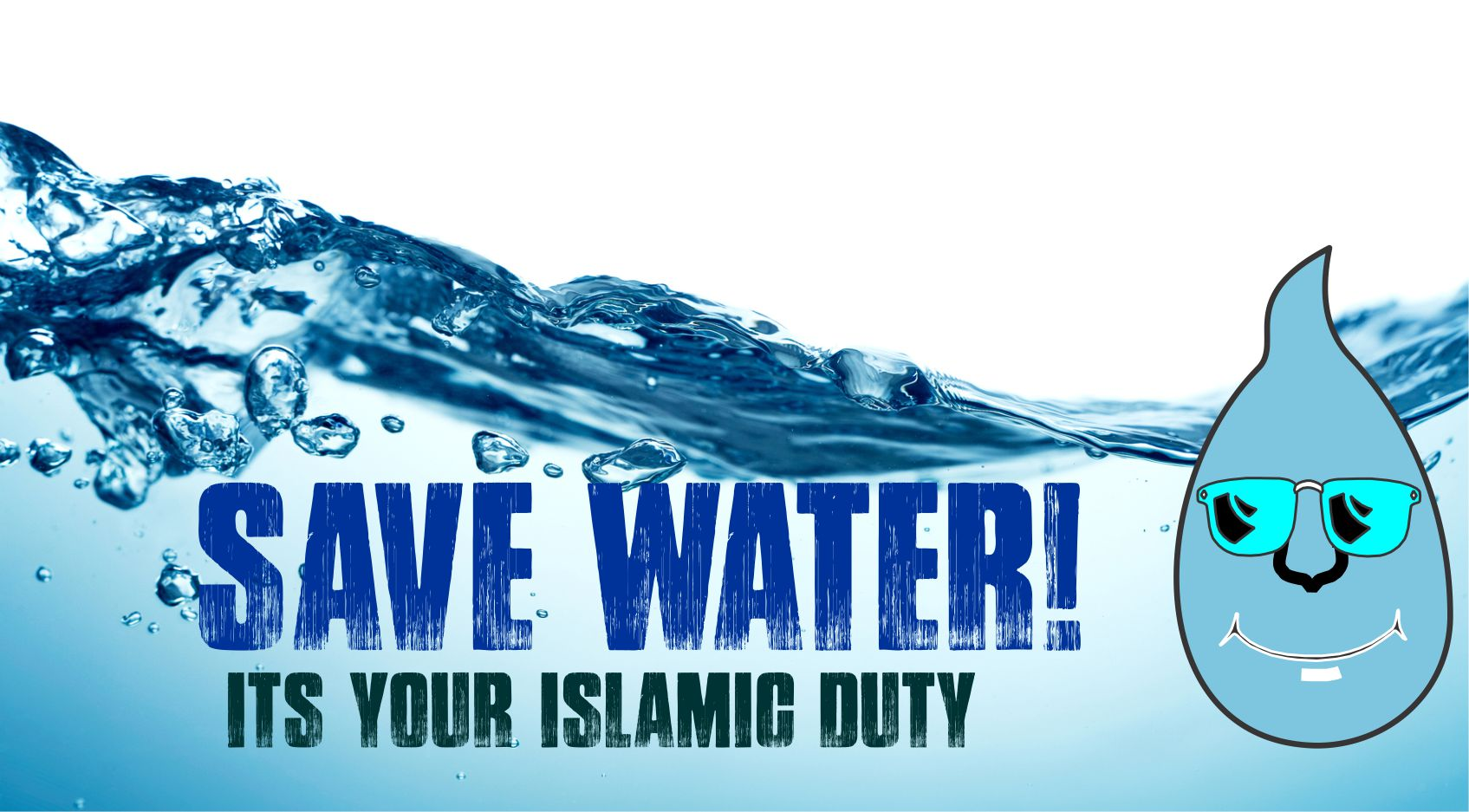 Muslim community urged to save water despite level 3 restrictions news - water poster2curves - News