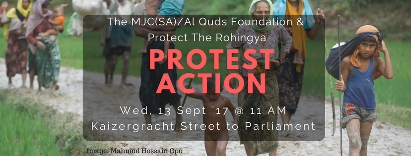 mjc womens forum addresses rohingya protest - FB banner Protest action - MJC Womens Forum addresses Rohingya protest