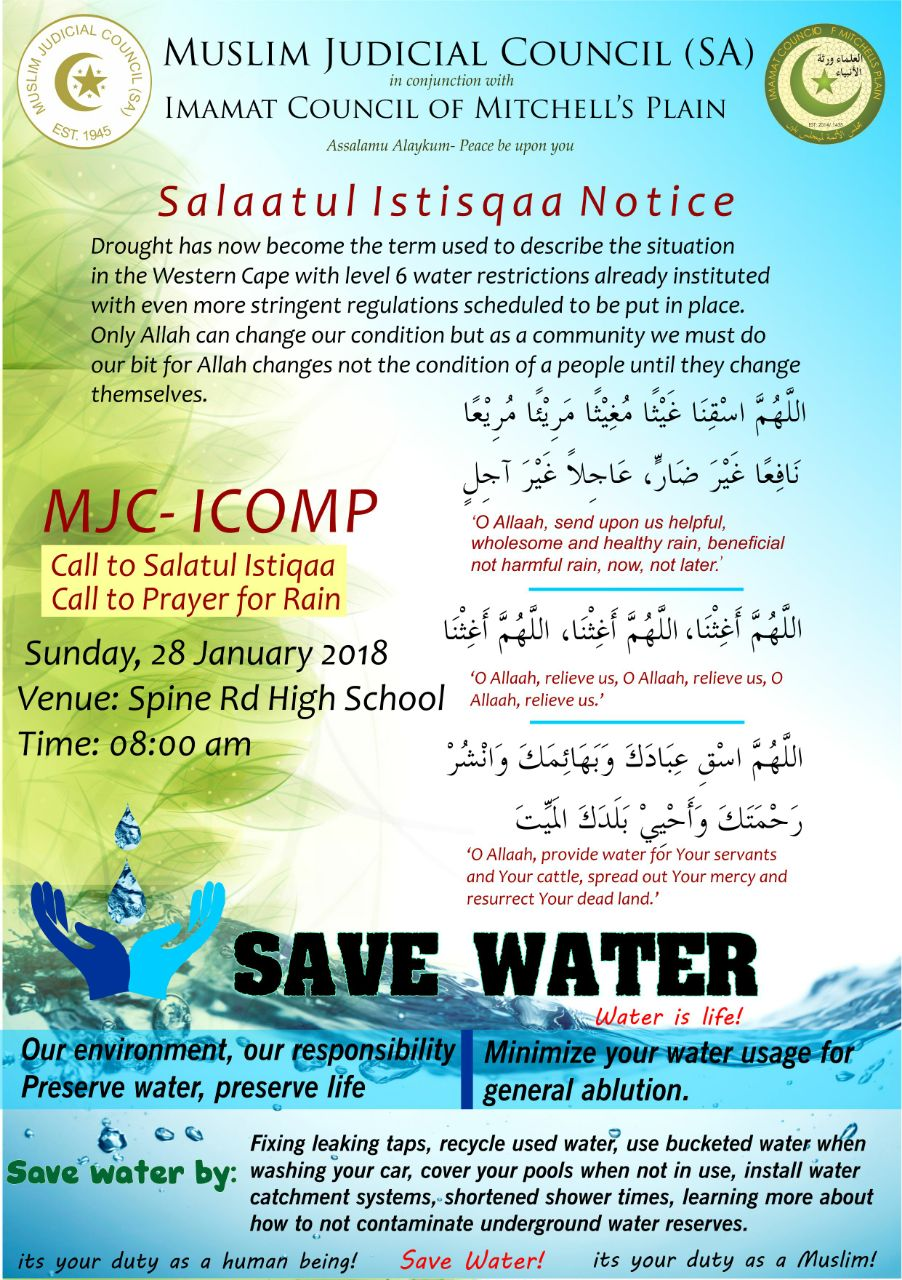 wc drought is a means to draw closer to allah, the most merciful - IMG 20180125 WA0004 - WC drought is a means to draw closer to Allah, The Most Merciful