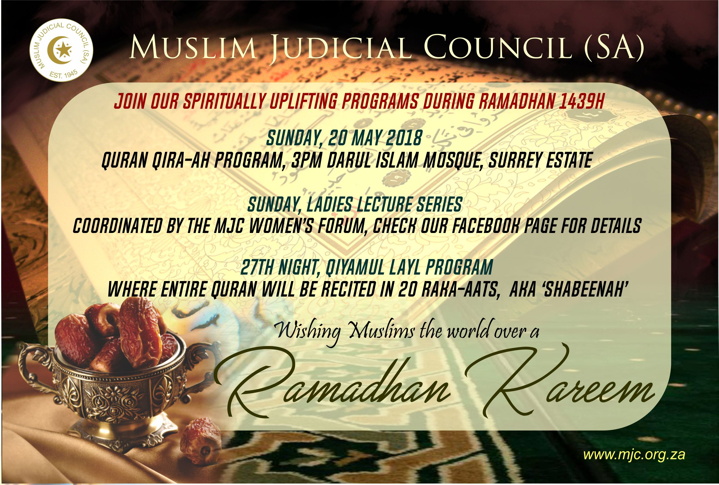 ramadan kareem from the president of the mjc - Islam Today Advert - Ramadan Kareem from the President of the MJC