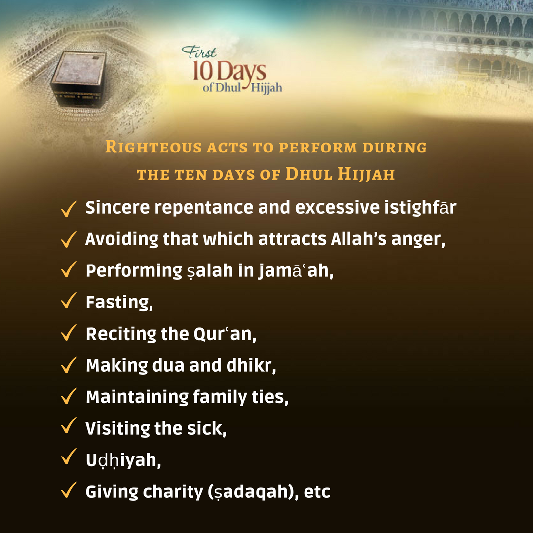 mjc (sa) calls on muslims to fast and increase good deeds during dhul hijja - 10 days - MJC (SA) calls on Muslims to fast and increase good deeds during Dhul Hijja