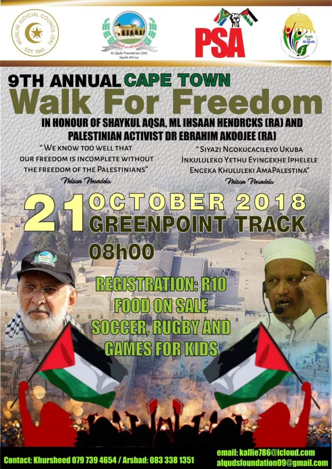 9th Cape Town Walk For Freedom honours Moulana Ihsaan Hendricks news - Screenshot 20181005 200002 Pages Manager - News