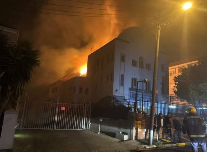 mjc saddened at sea point synagogue fire - synogogue - MJC saddened at Sea Point Synagogue fire