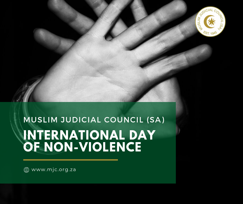 - Muslim Judicial Council SA 1 - International Day of Non-Violence: MJC (SA)