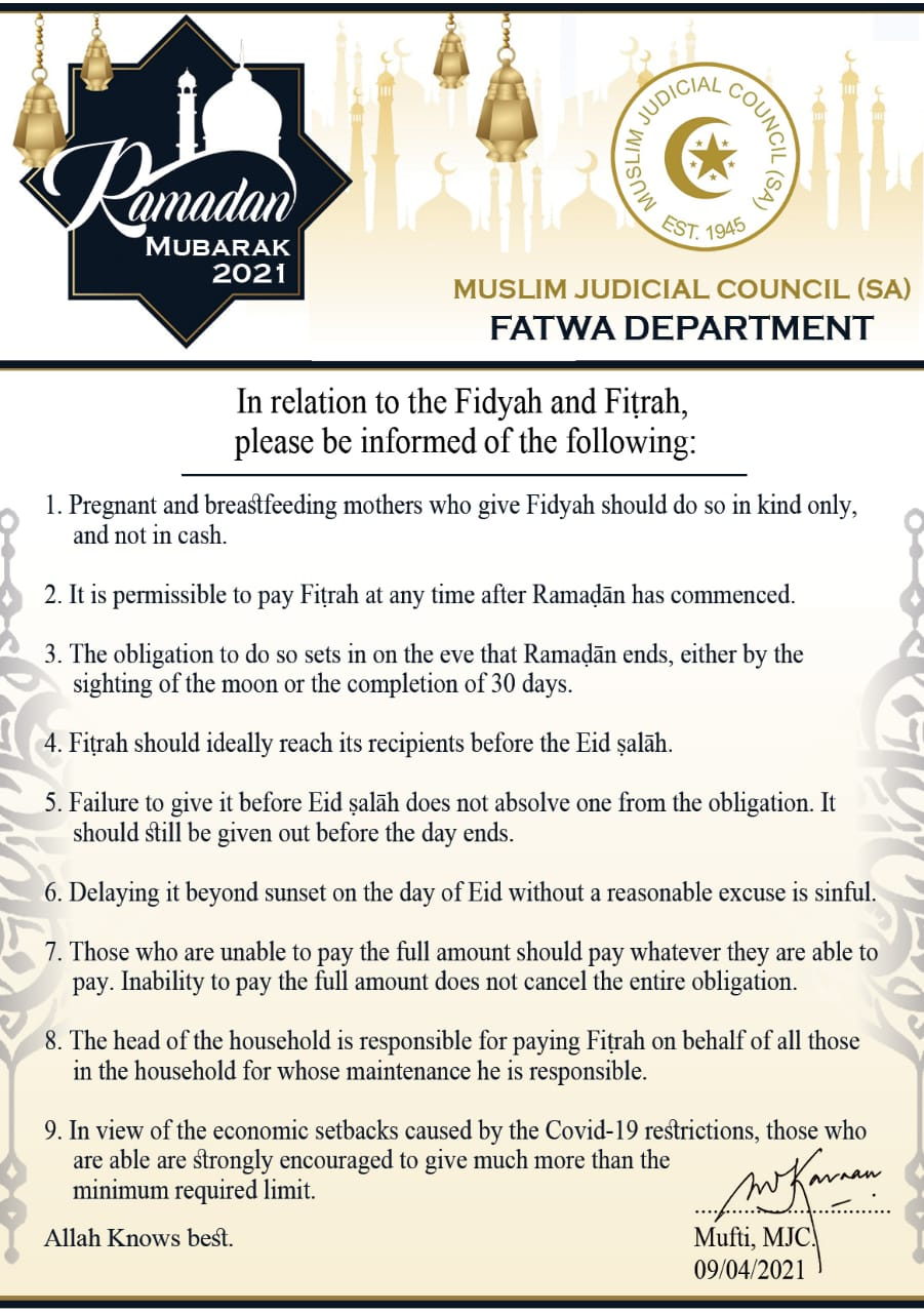 - WhatsApp Image 2021 04 09 at 4 - Fidyah and Fiṭrah related Masāil